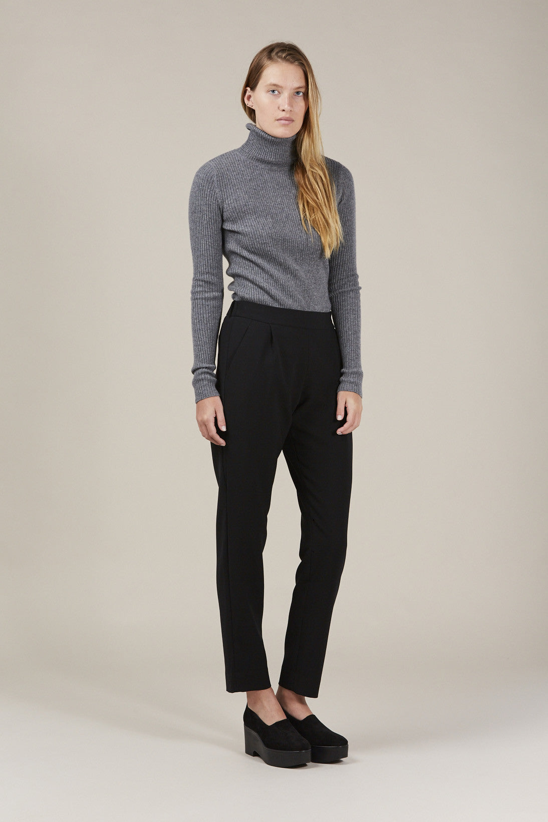 Ginny Ribbed Turtleneck Sweater by Demylee @ Kick Pleat - 1