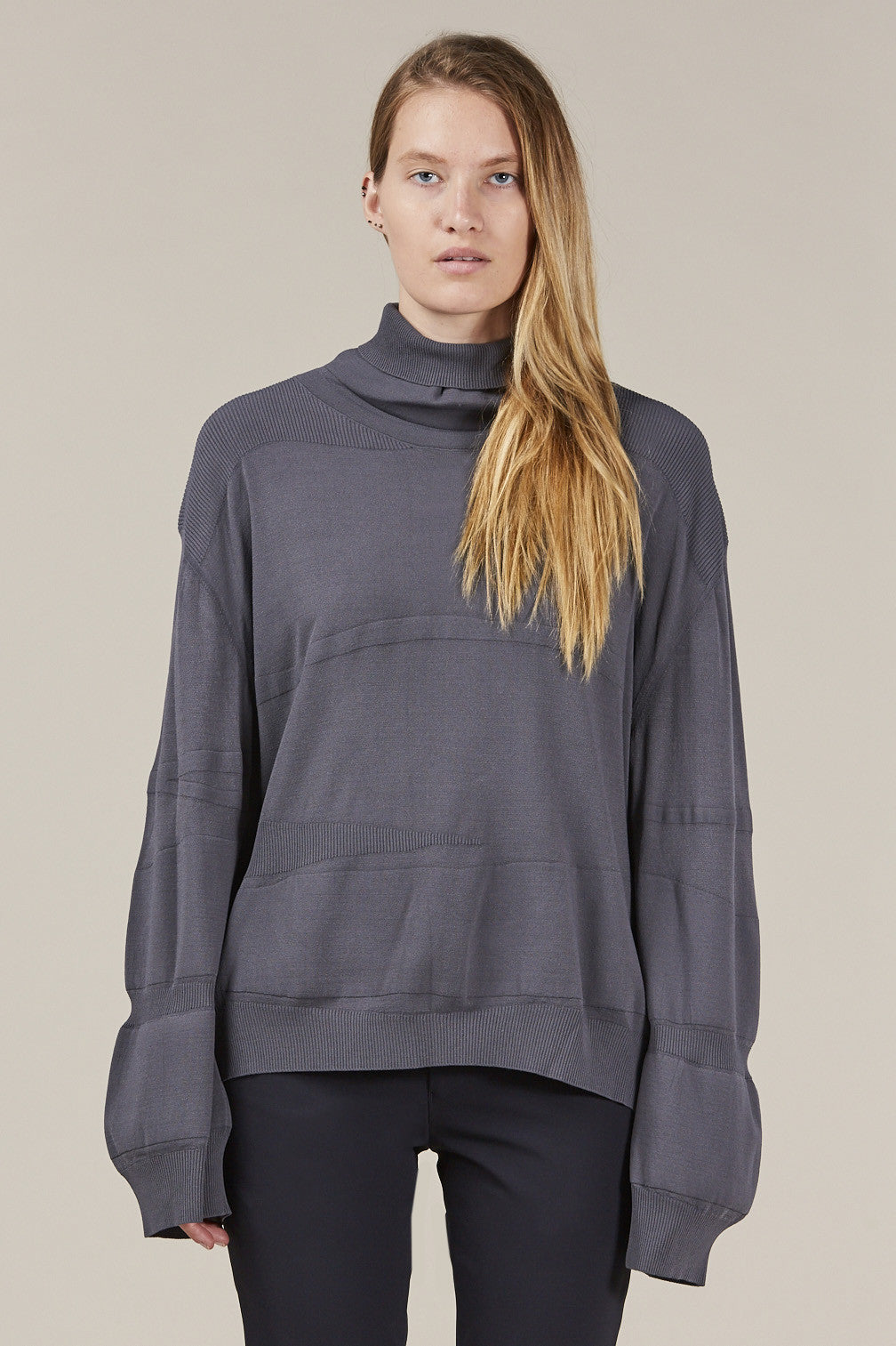 Turtleneck, Grey by Boboutic @ Kick Pleat - 1