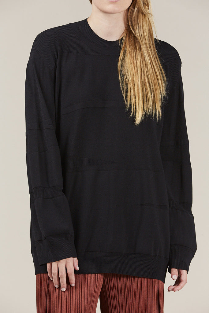 Ribbed Sweater, Black by Boboutic @ Kick Pleat - 2