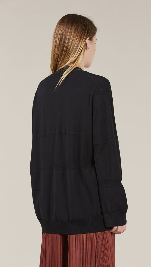 Ribbed Sweater, Black by Boboutic @ Kick Pleat - 5