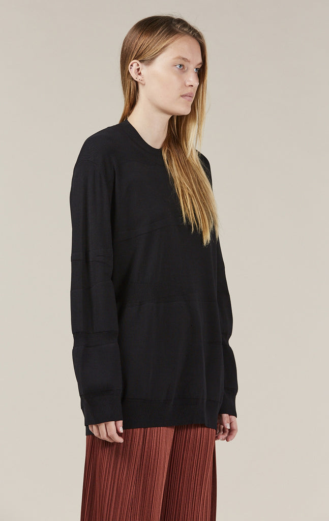 Ribbed Sweater, Black by Boboutic @ Kick Pleat - 3