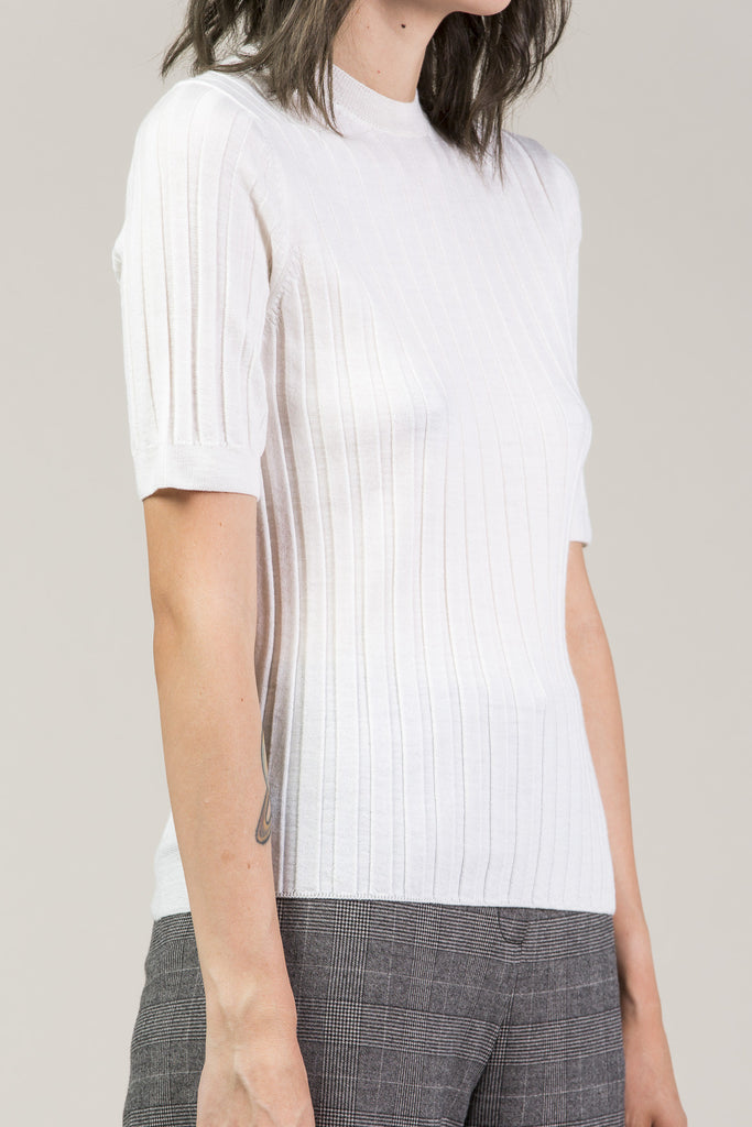 Mary Skinny S/S Pullover, White by Yune Ho @ Kick Pleat - 3