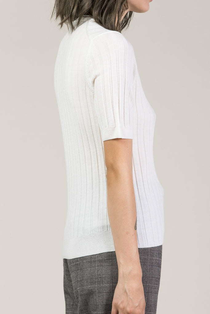 Mary Skinny S/S Pullover, White by Yune Ho @ Kick Pleat - 4