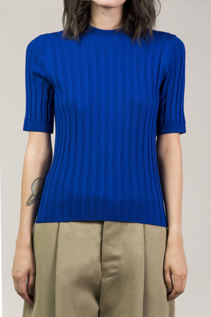 Mary Skinny S/S Pullover, Cobalt by Yune Ho @ Kick Pleat - 2