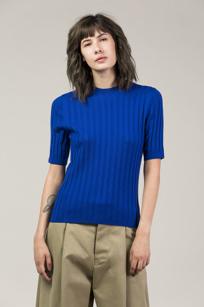 Mary Skinny S/S Pullover, Cobalt by Yune Ho @ Kick Pleat - 3