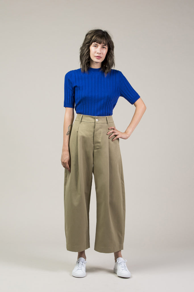 Mary Skinny S/S Pullover, Cobalt by Yune Ho @ Kick Pleat - 1