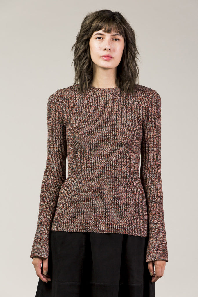 Otero Crew Sweater, Red Rock by Apiece Apart @ Kick Pleat - 1