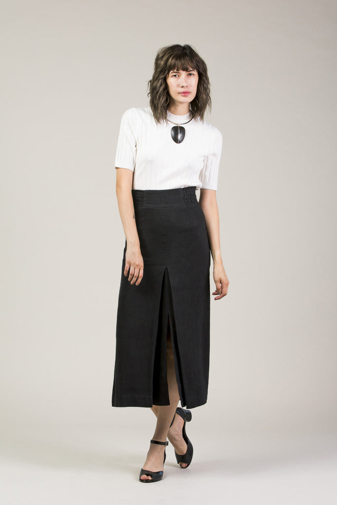 Obsidian Slit Skirt by Apiece Apart @ Kick Pleat - 1