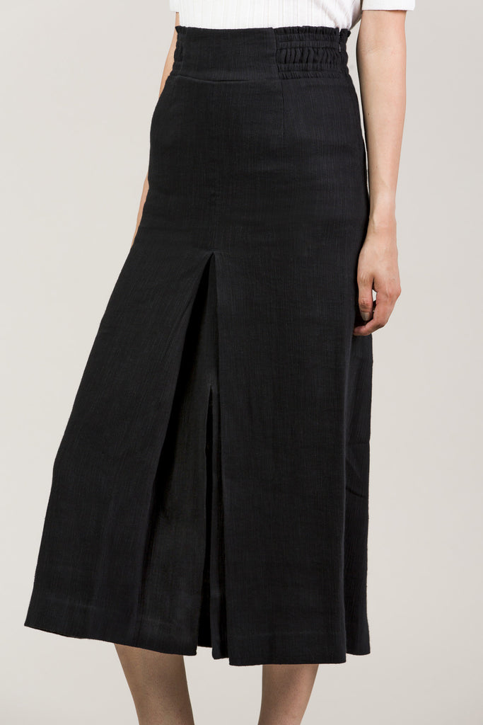 Obsidian Slit Skirt by Apiece Apart @ Kick Pleat - 3