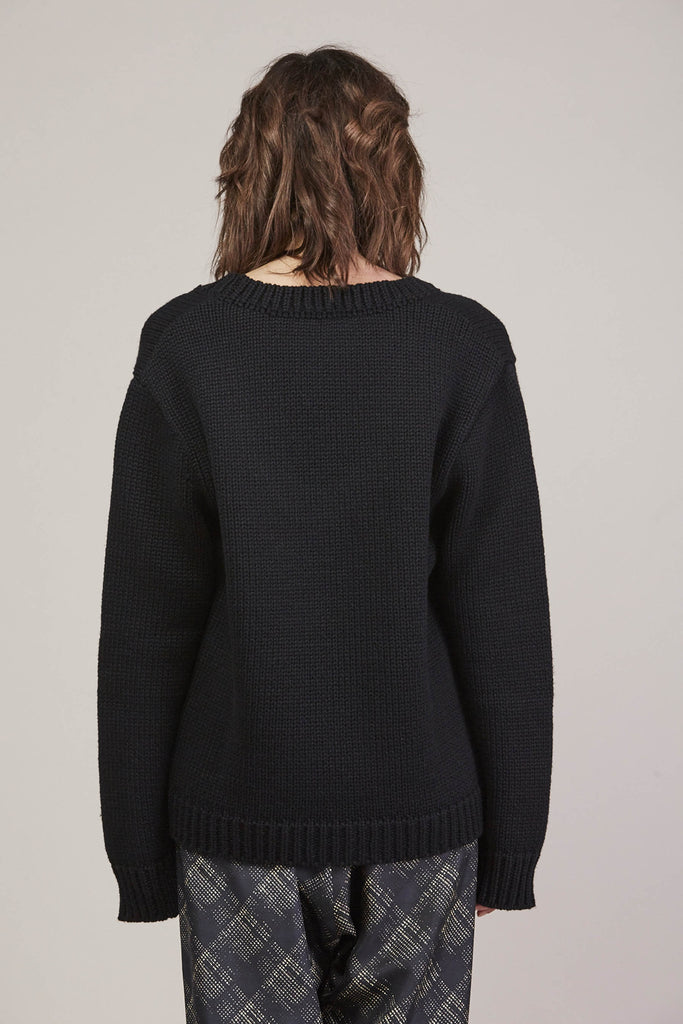 335 Sweater, Black by Veronique Leroy @ Kick Pleat - 6