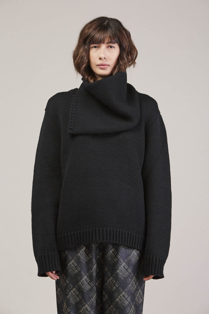 335 Sweater, Black by Veronique Leroy @ Kick Pleat - 3