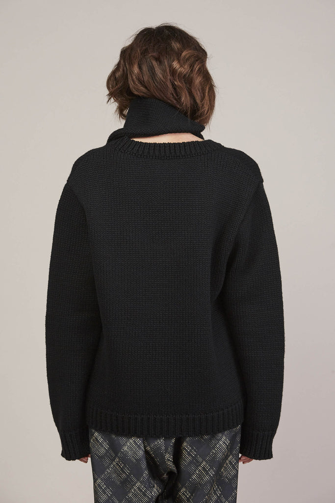 335 Sweater, Black by Veronique Leroy @ Kick Pleat - 9