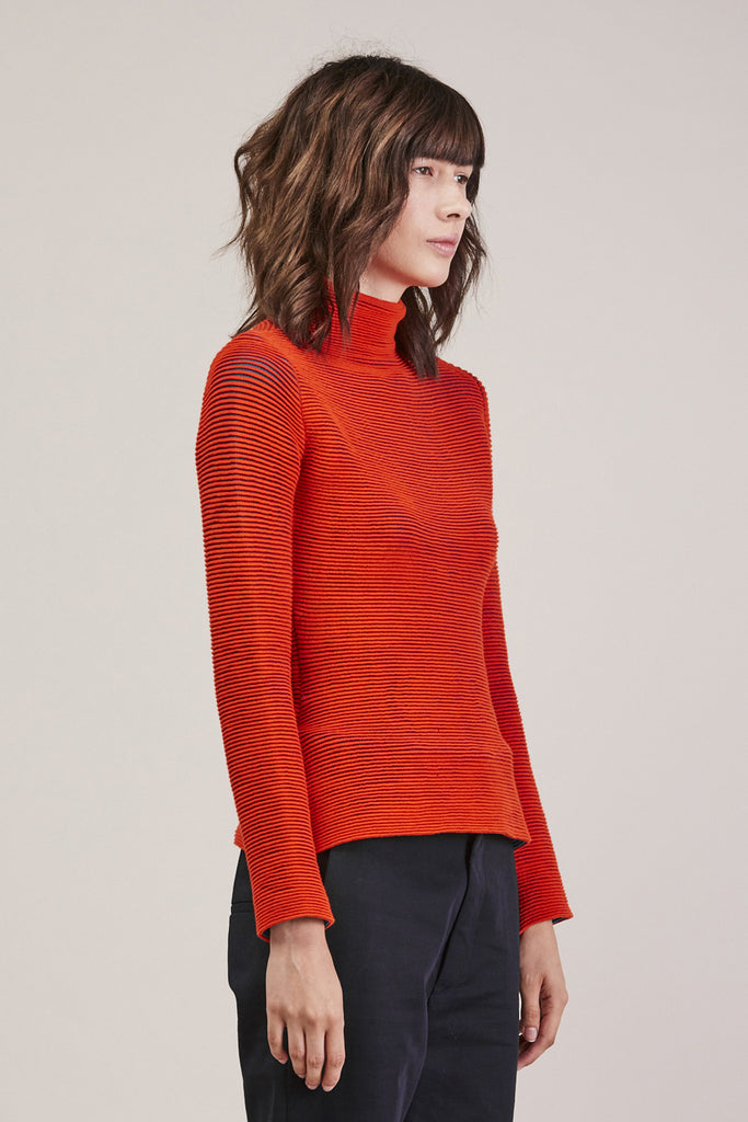 Turtleneck, Red/Green by Issey Miyake @ Kick Pleat - 3