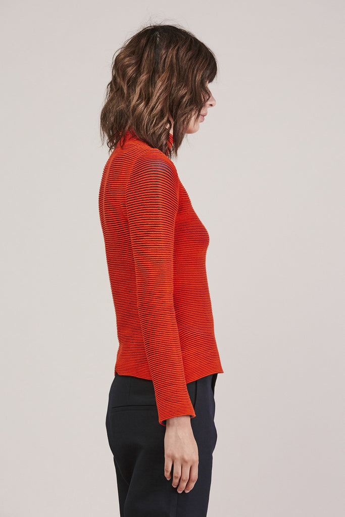 Turtleneck, Red/Green by Issey Miyake @ Kick Pleat - 4