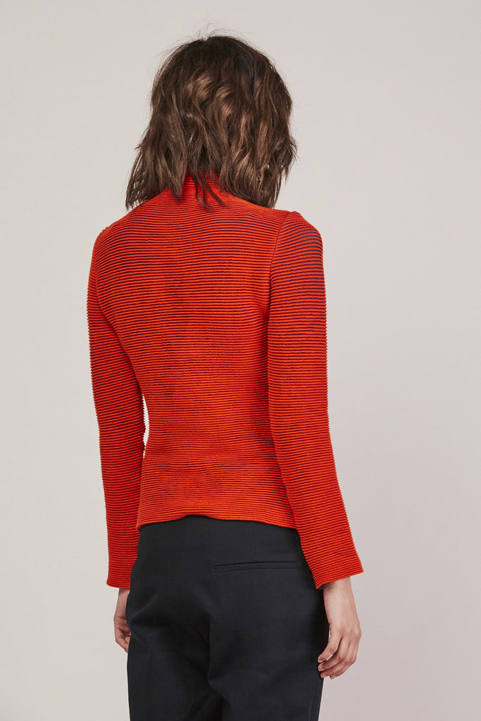 Turtleneck, Red/Green by Issey Miyake @ Kick Pleat - 5