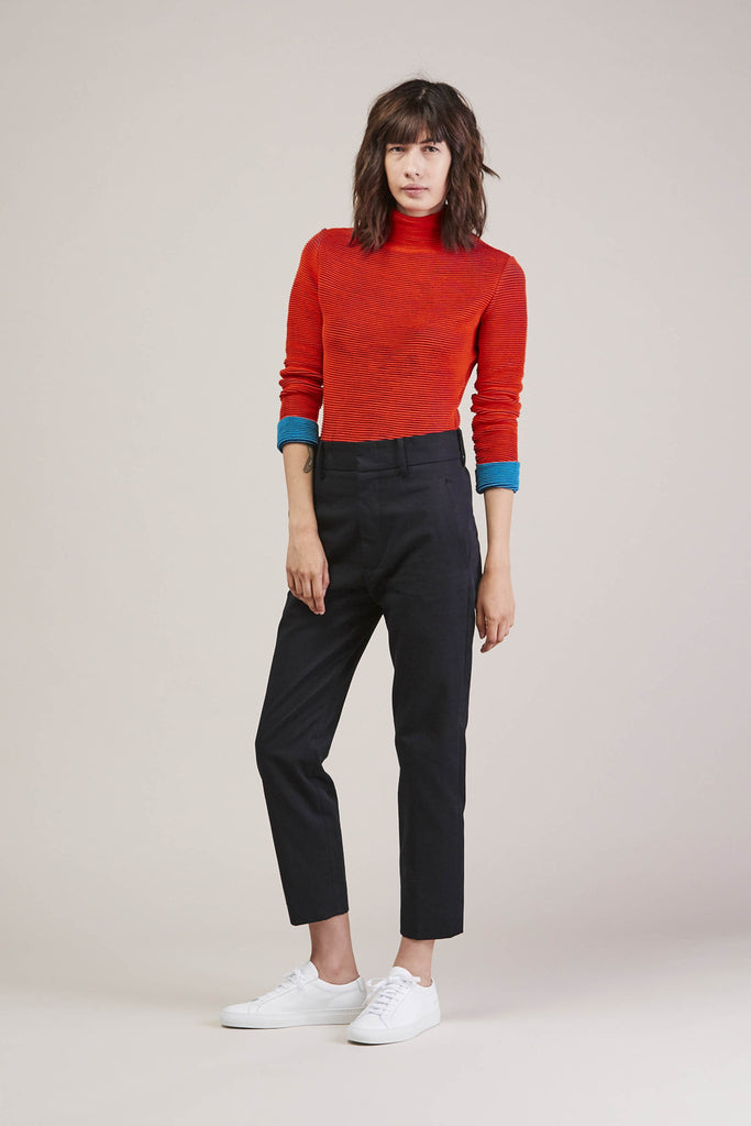 Turtleneck, Red/Green by Issey Miyake @ Kick Pleat - 2