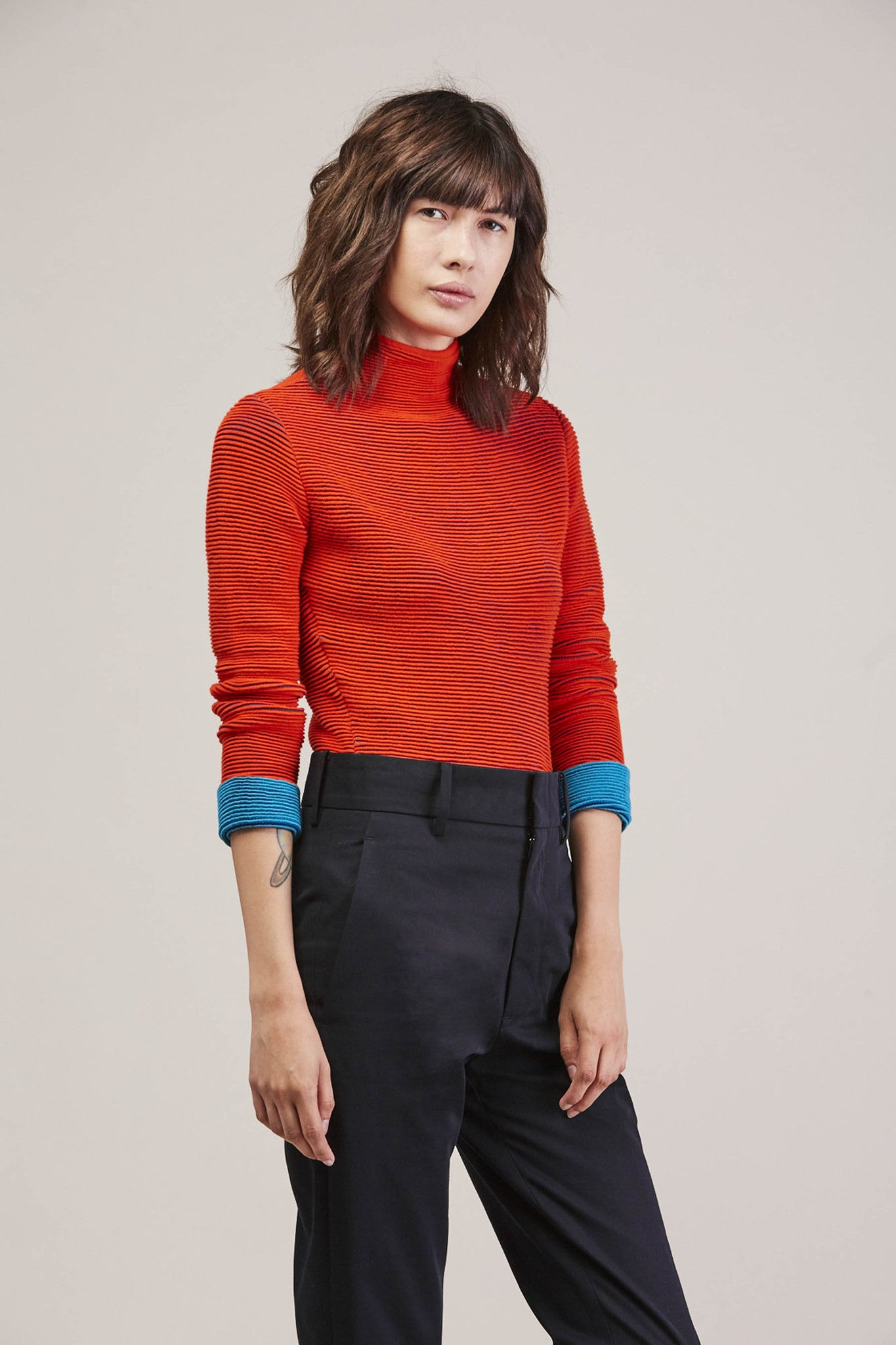 Turtleneck, Red/Green by Issey Miyake @ Kick Pleat - 1