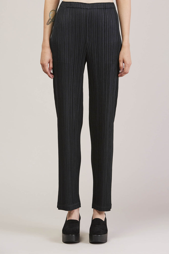 Pleated Pant, Black by Pleats Please by Issey Miyake @ Kick Pleat - 1