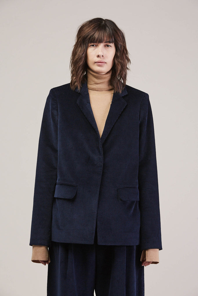 Wide whale tailored jacket by Studio Nicholson @ Kick Pleat - 2