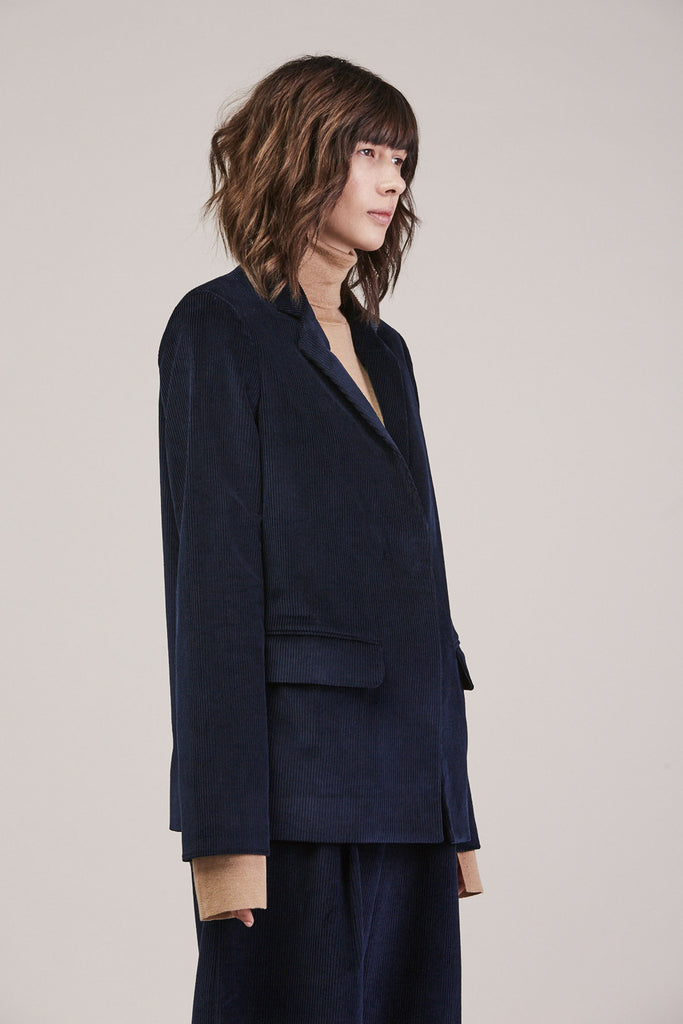 Wide whale tailored jacket by Studio Nicholson @ Kick Pleat - 3