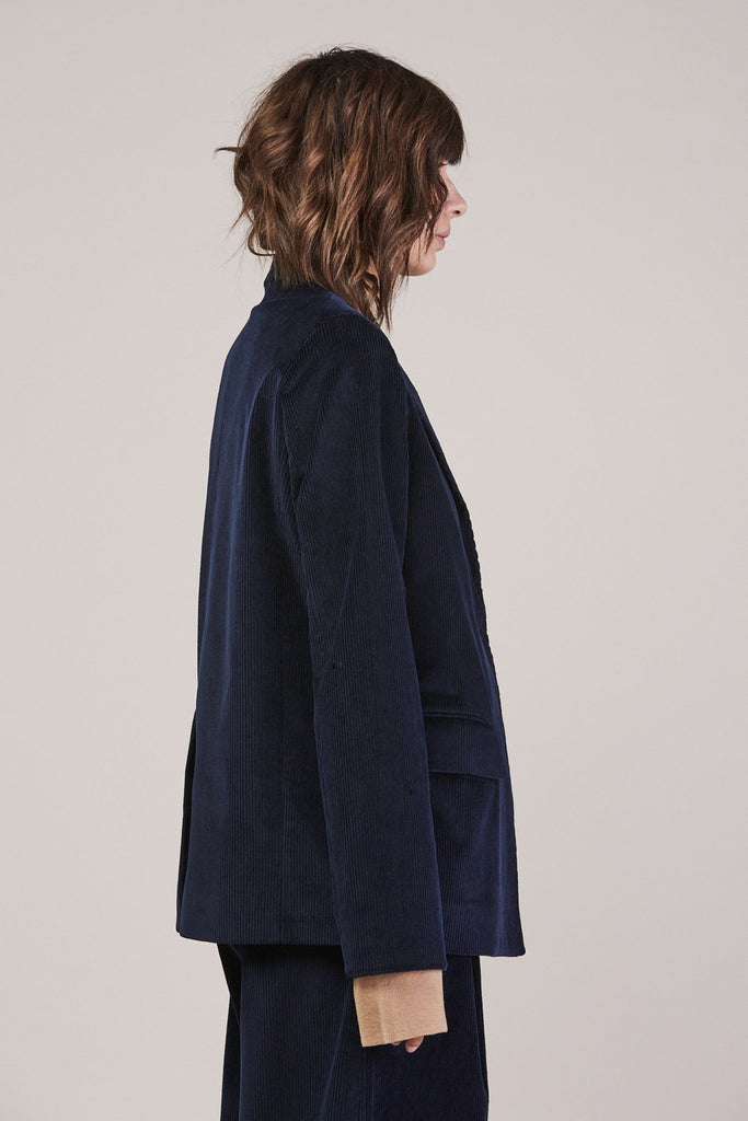 Wide whale tailored jacket by Studio Nicholson @ Kick Pleat - 4