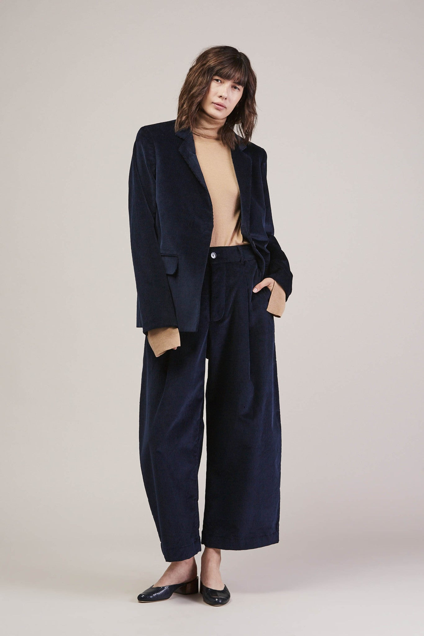 Wide whale tailored jacket by Studio Nicholson @ Kick Pleat - 1
