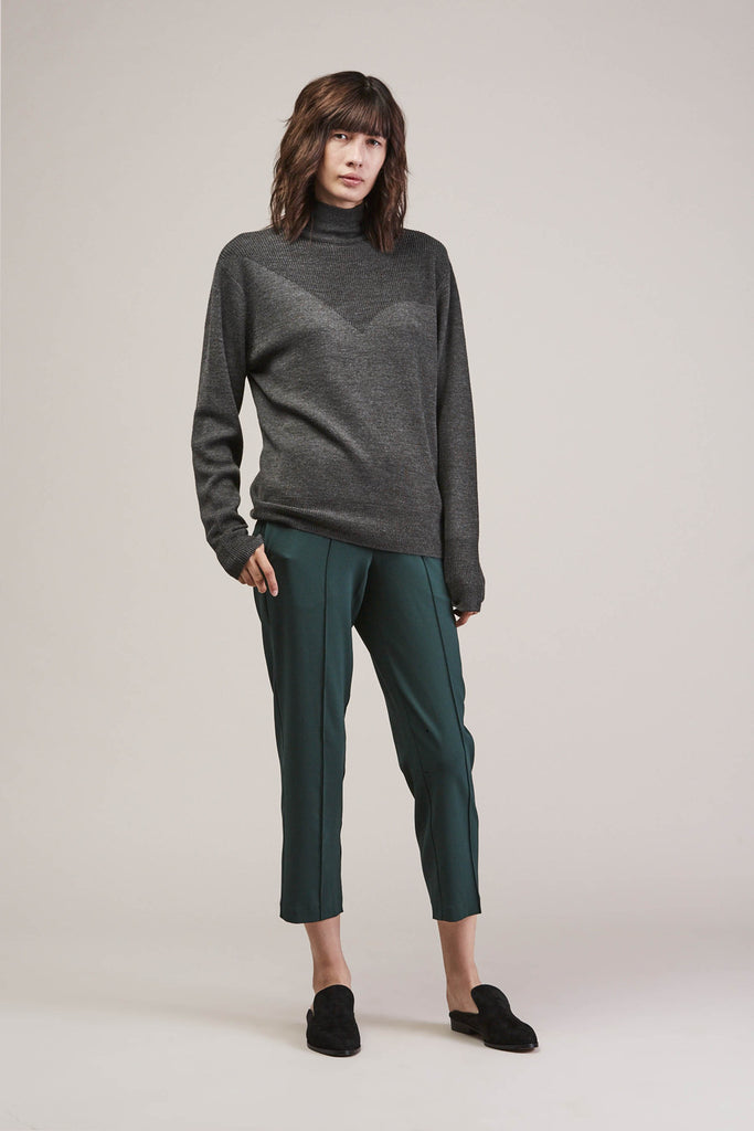 Sleeper trouser, Green by KALLMEYER @ Kick Pleat - 2