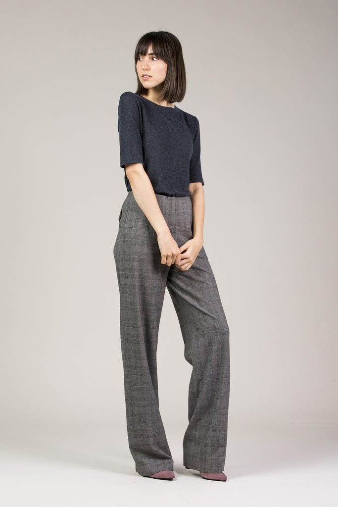 Chloe Pant, Grey by Yune Ho @ Kick Pleat - 1