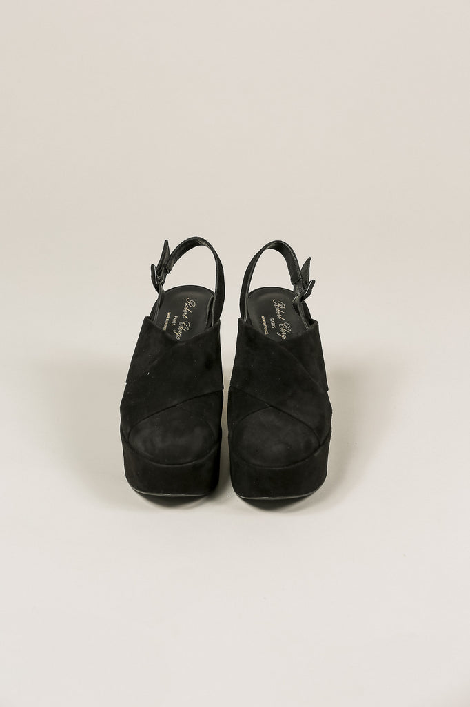 Verlo Suede Platform, Black by Robert Clergerie @ Kick Pleat - 3