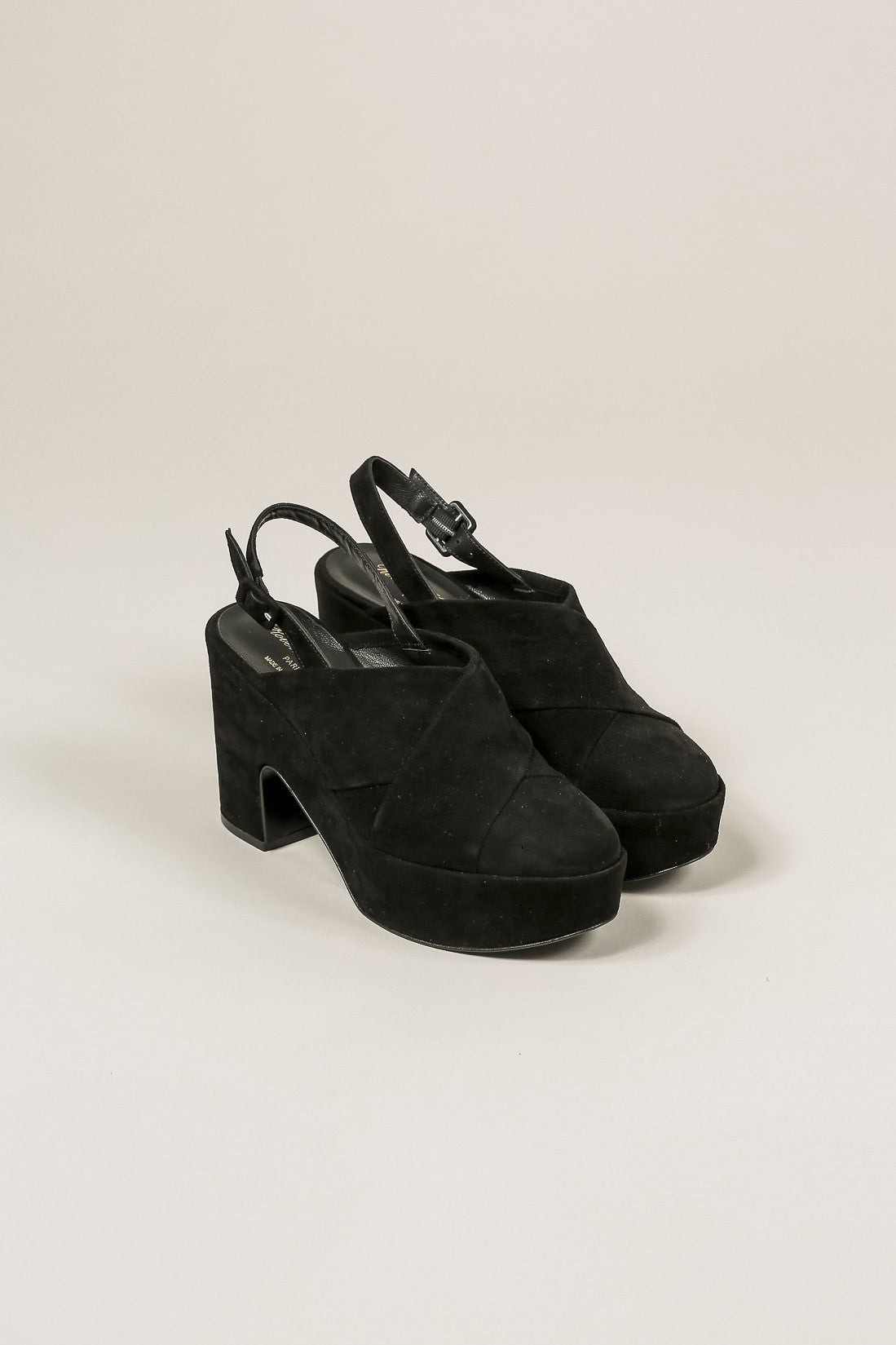 Verlo Suede Platform, Black by Robert Clergerie @ Kick Pleat - 1