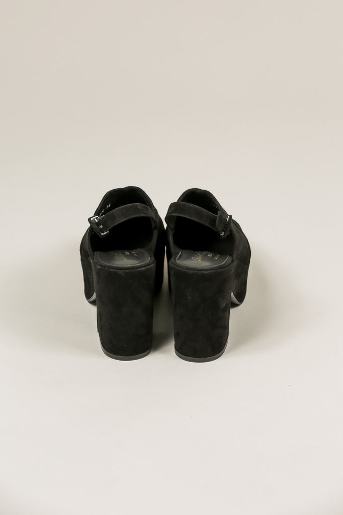 Verlo Suede Platform, Black by Robert Clergerie @ Kick Pleat - 5