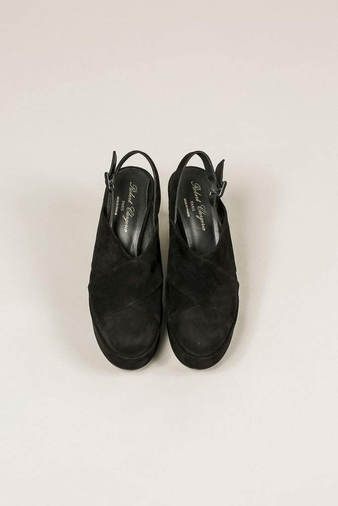 Verlo Suede Platform, Black by Robert Clergerie @ Kick Pleat - 4