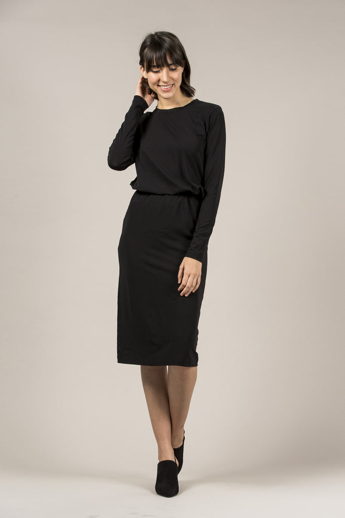 Layered Dress, Black