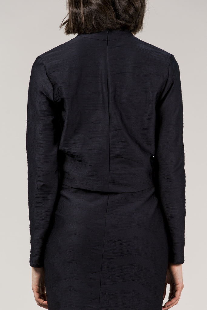 L/S Mock Neck Top, Black by Suzanne Rae @ Kick Pleat - 6