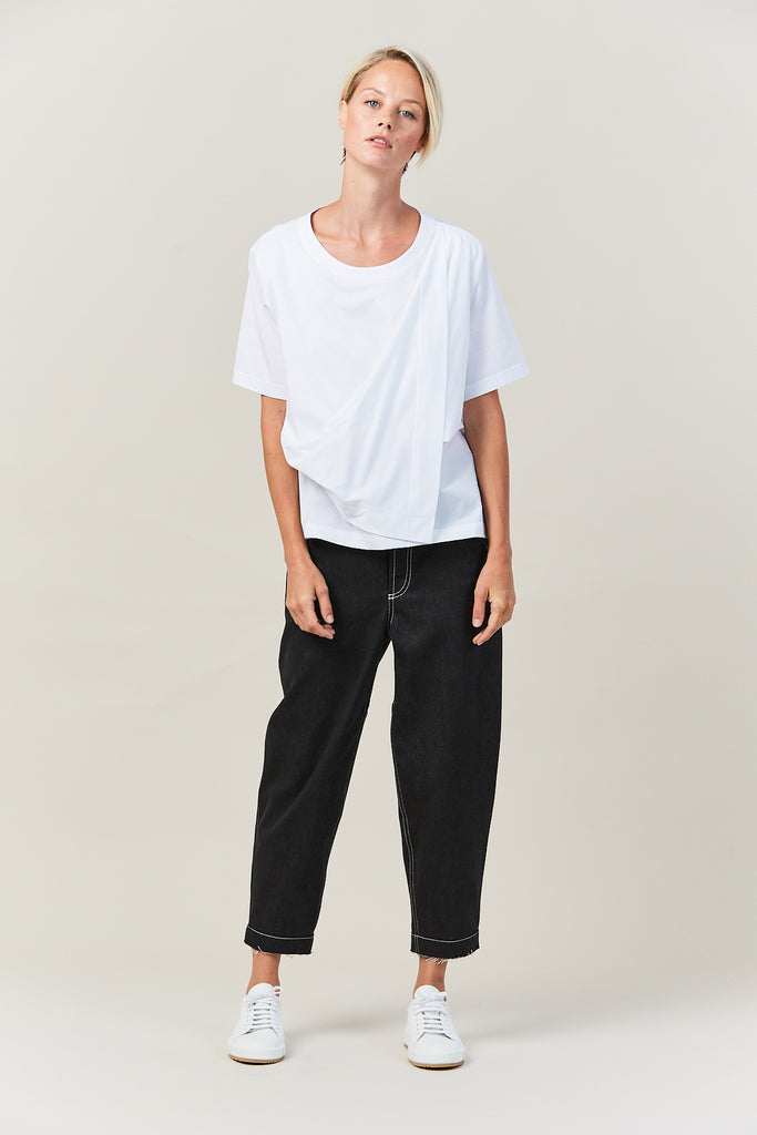 Tatry Draped T Shirt, White