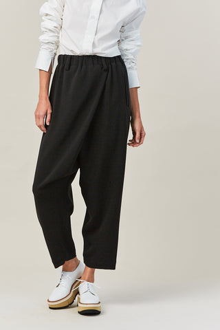 cross over pant, black