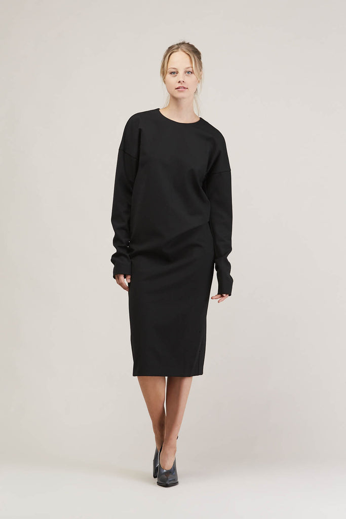 Balsamico l/s dress, Black