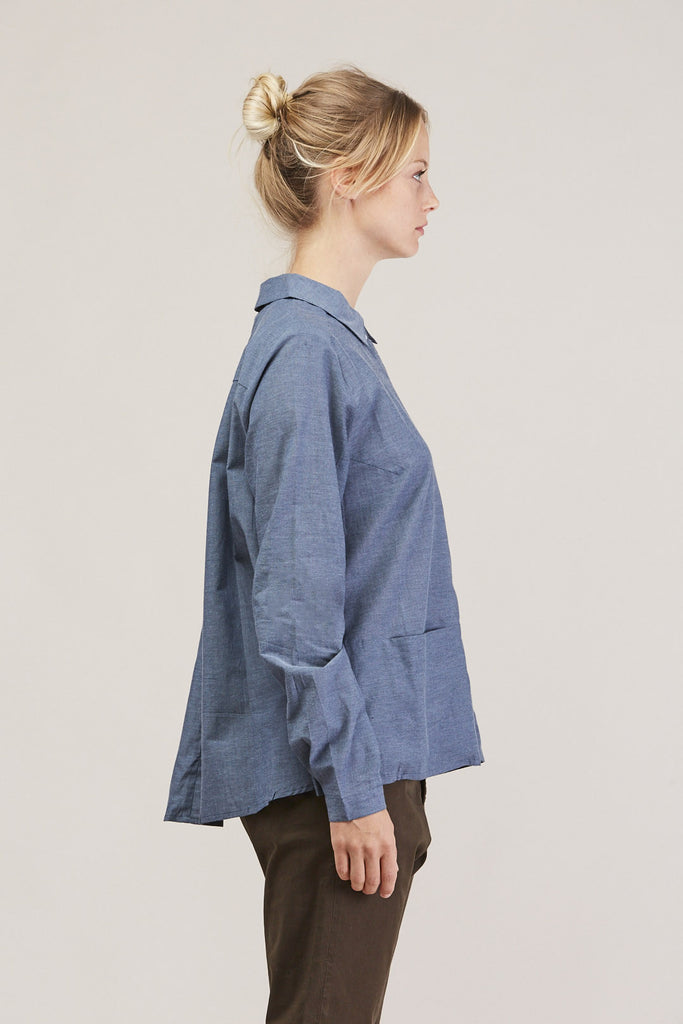 Cloudless button down, Chambray by KOWTOW @ Kick Pleat - 4