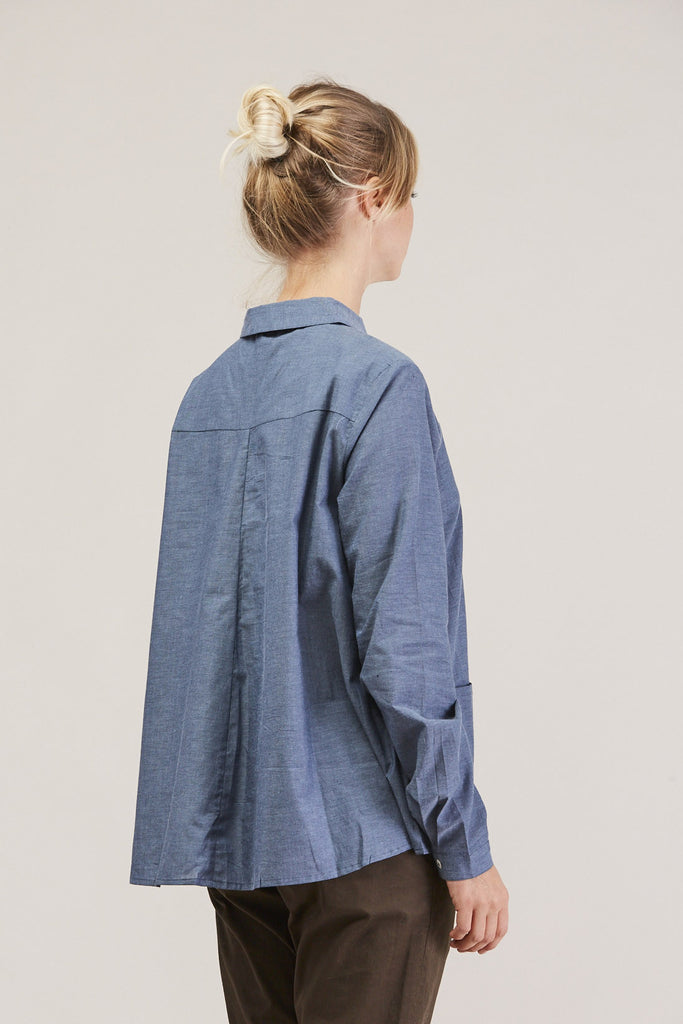 Cloudless button down, Chambray by KOWTOW @ Kick Pleat - 5