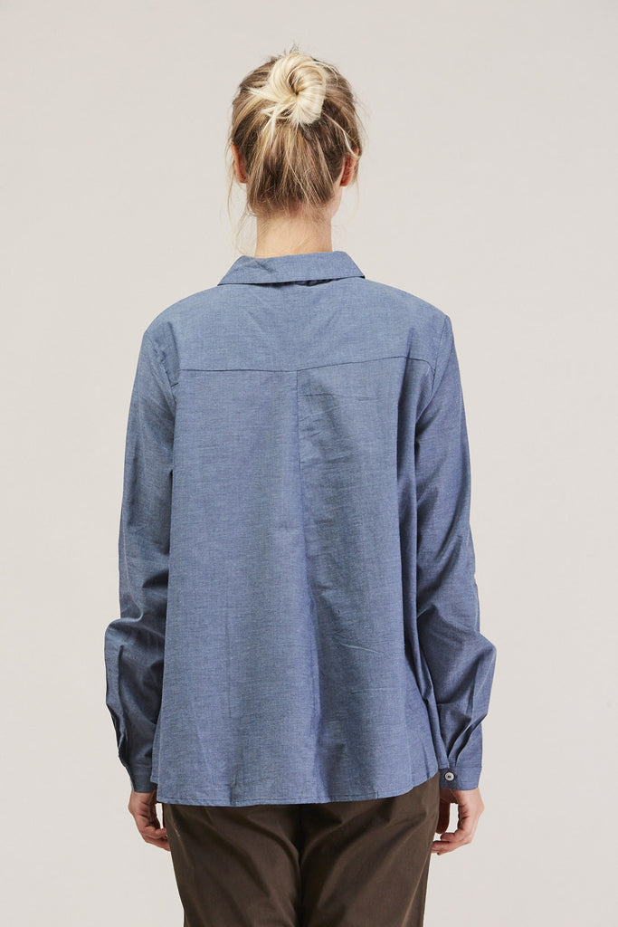 Cloudless button down, Chambray by KOWTOW @ Kick Pleat - 6