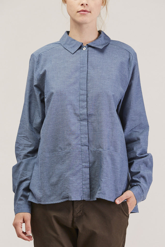 Cloudless button down, Chambray by KOWTOW @ Kick Pleat - 7