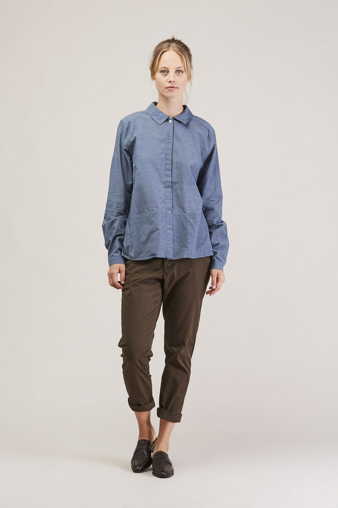 Cloudless button down, Chambray by KOWTOW @ Kick Pleat - 1