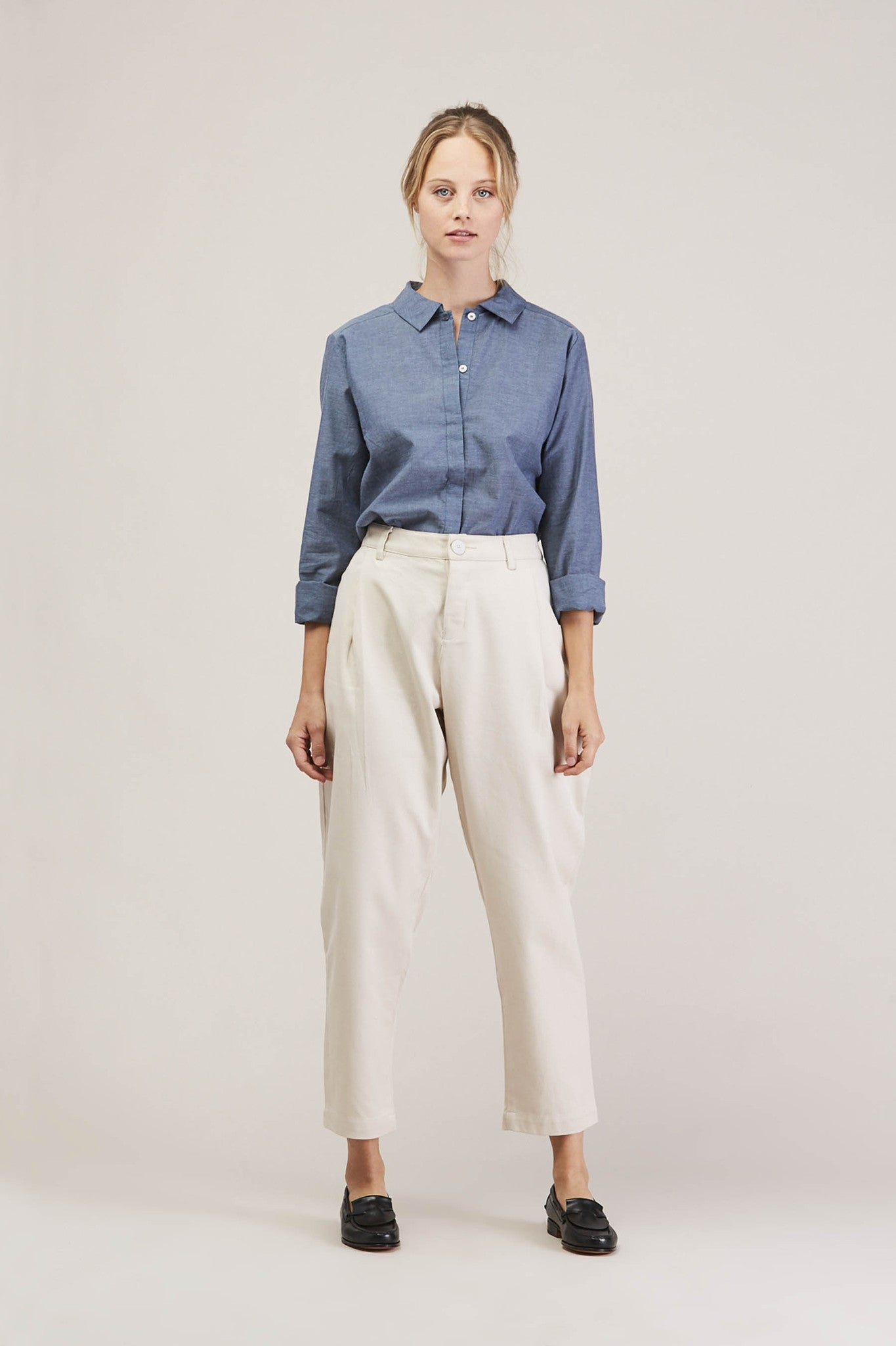 Westbound pant, Natural by KOWTOW @ Kick Pleat - 1