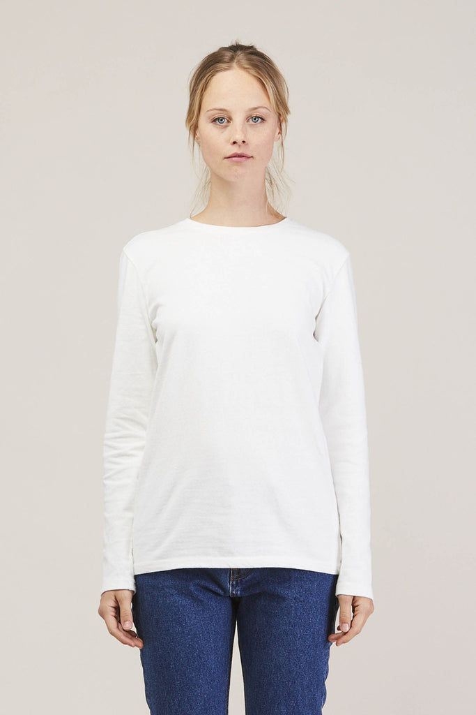 Midwest LS Tee Shirt, Off White by EARNEST SEWN @ Kick Pleat - 1