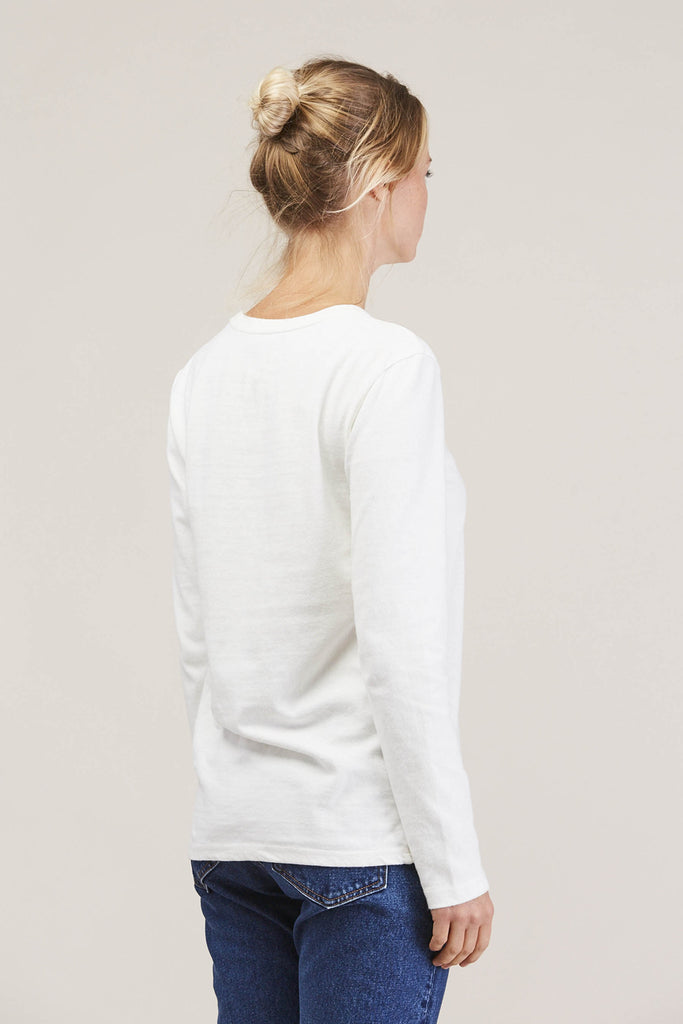 Midwest LS Tee Shirt, Off White by EARNEST SEWN @ Kick Pleat - 5