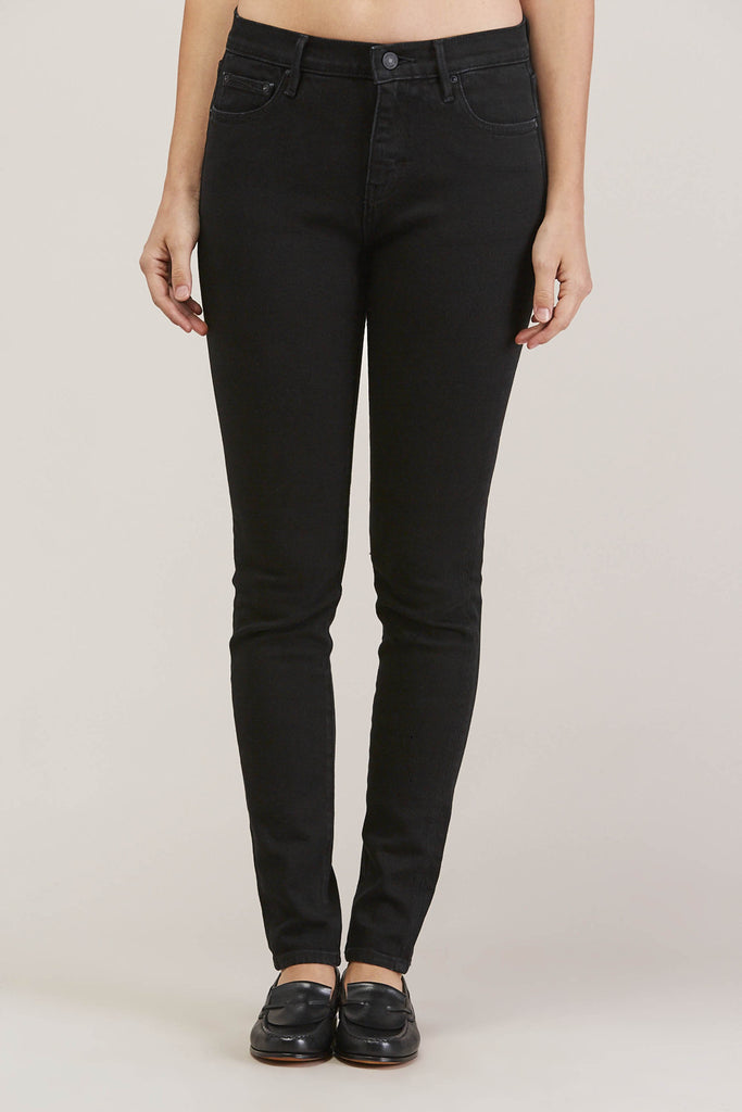 Blake High Waist Skinny, Black Ink by EARNEST SEWN @ Kick Pleat - 2