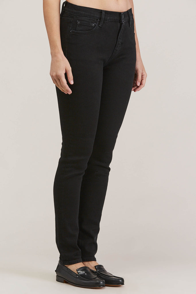 Blake High Waist Skinny, Black Ink by EARNEST SEWN @ Kick Pleat - 3