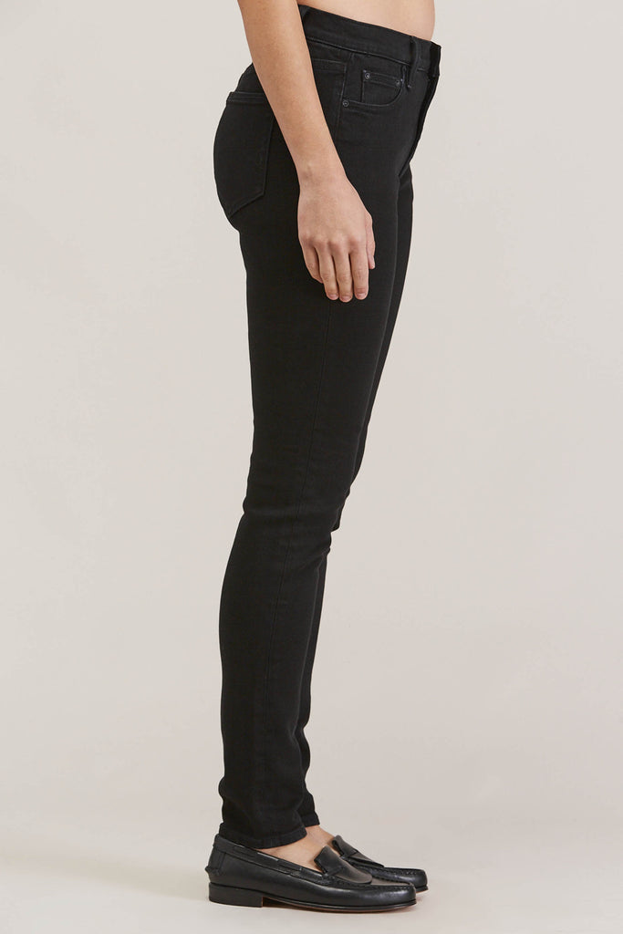 Blake High Waist Skinny, Black Ink by EARNEST SEWN @ Kick Pleat - 4