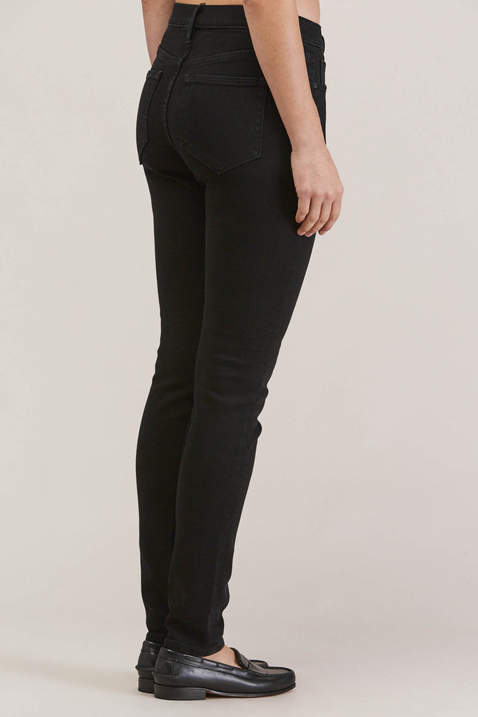 Blake High Waist Skinny, Black Ink by EARNEST SEWN @ Kick Pleat - 5
