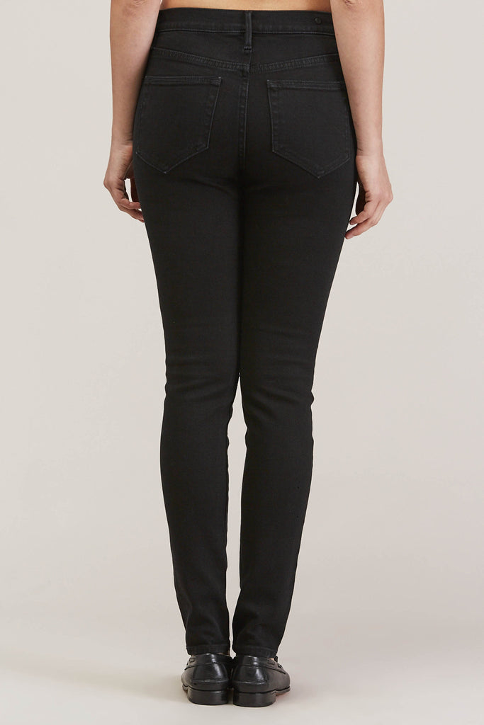 Blake High Waist Skinny, Black Ink by EARNEST SEWN @ Kick Pleat - 6